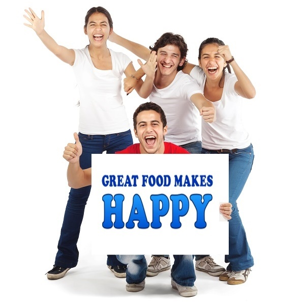 Great Food Makes Happy unterstuetze uns